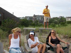 Angela, Karen, and Alexandra; Joe in the background