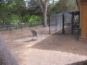 First line of defense is the existing dog run