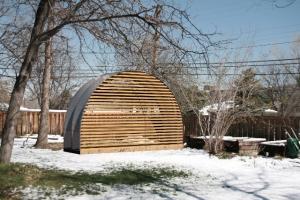 Student-built chicken coop in Boulder, CO