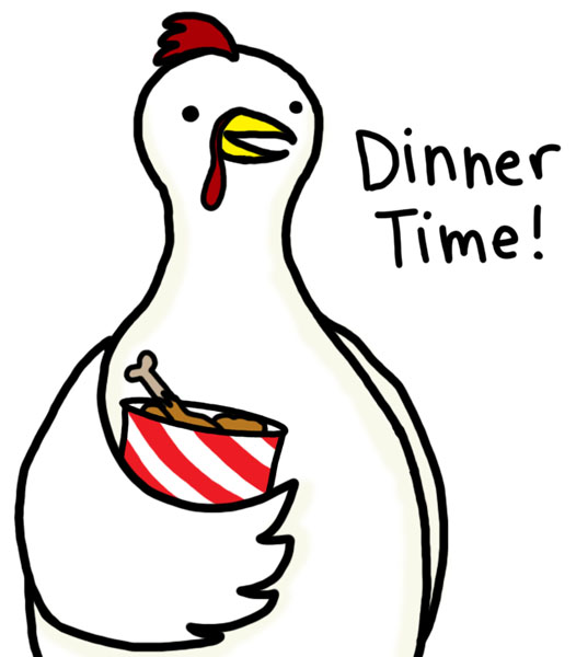free clipart chicken dinner - photo #3