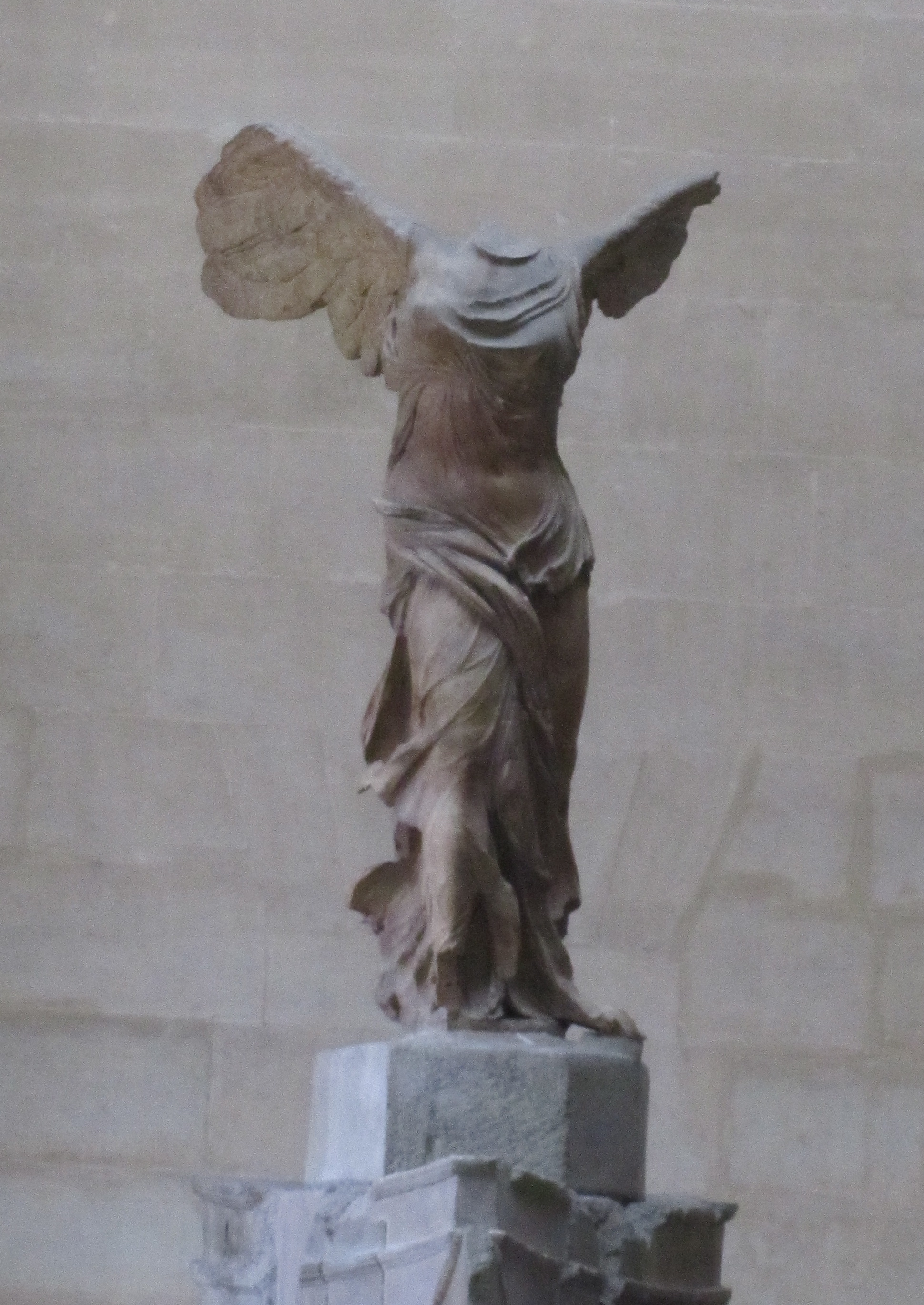 winged victory Shop our winged victory of samothrace sculpture famous louvre museum  makes an  the piece was discovered in 1863 on the greek island of  samothrace,.