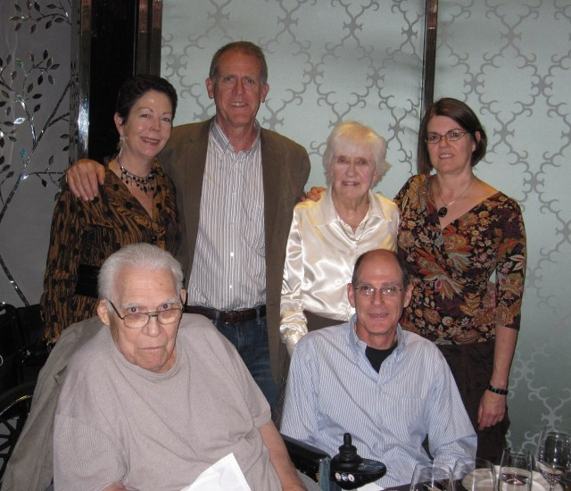 Last year's trip: Delbert with me, the CE, his sister Phyllis, nephew Mark and niece Gail