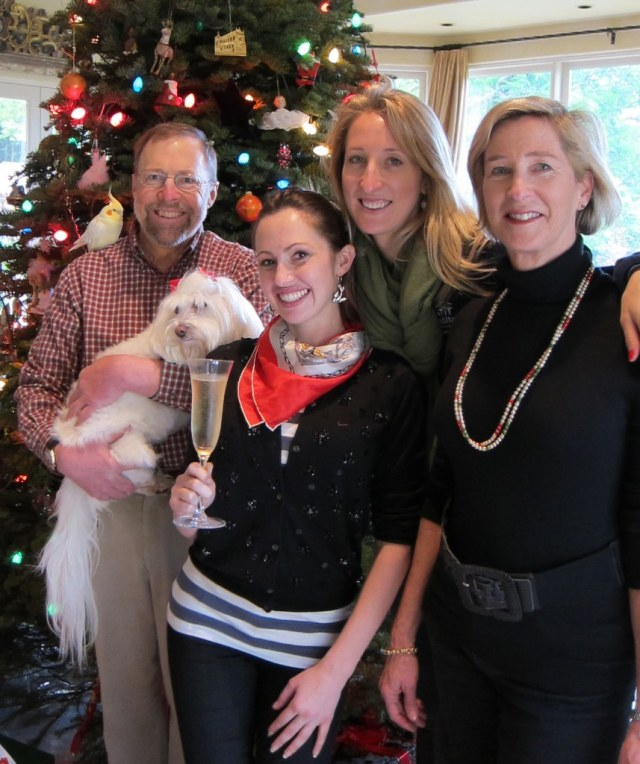 Kirk, Casey, Alexandra and Pamela with Soho, Christmas 2011