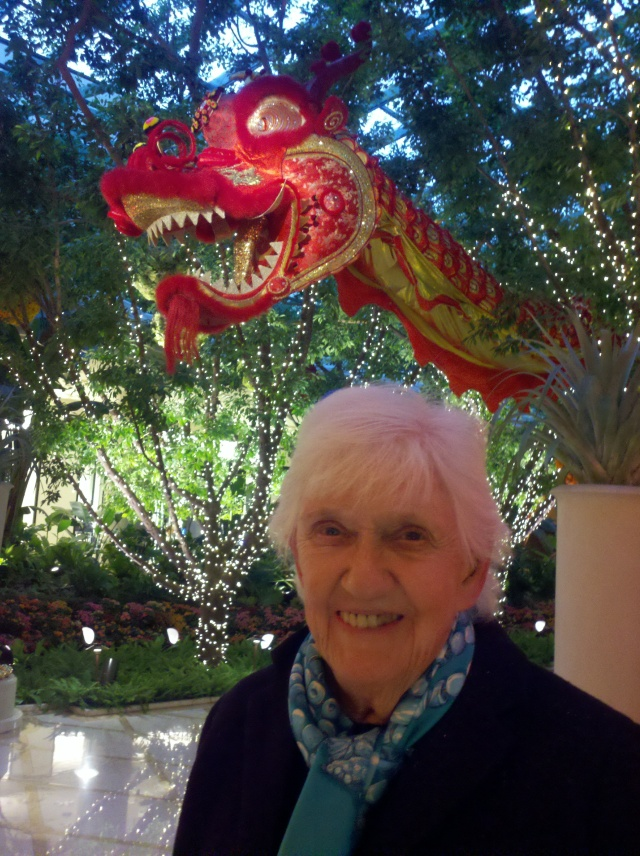 How to train your dragon: Phyllis checks out Chinese New Year decorations at The Wynn
