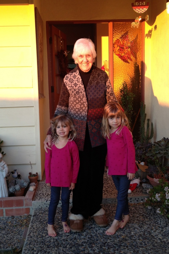 Viv and Evie with their Great-Granny