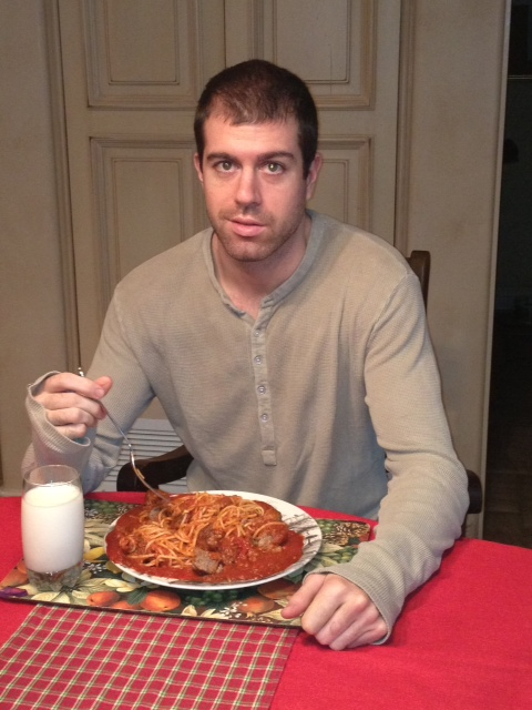 Taylor had one good spaghetti breakfast (yes, breakfast!) and spent the rest of his visit knocked out by a virus