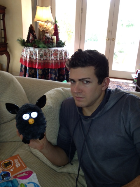 Hard to decide which one was cuter. Furbys were my go-to gift this year...