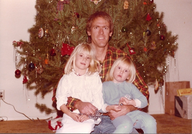 Christmas 1979: the CE with Tina and Angie