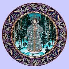 A Russian Fairy Tale plate of Snegurochka (The Snow Maiden) (image from theplatelady.com)