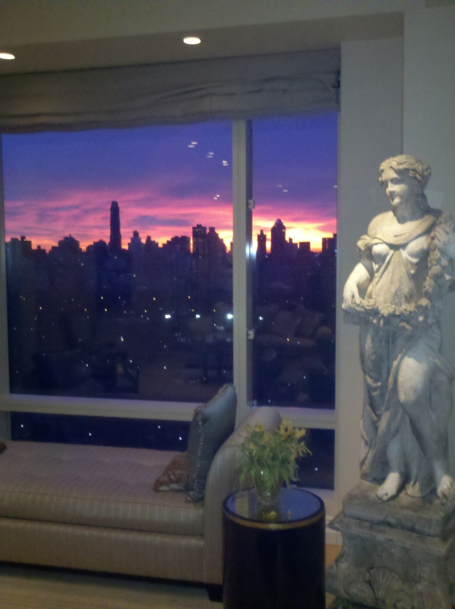 February sunrise from our apartment window. CE took this pic. - I'm never up that early!