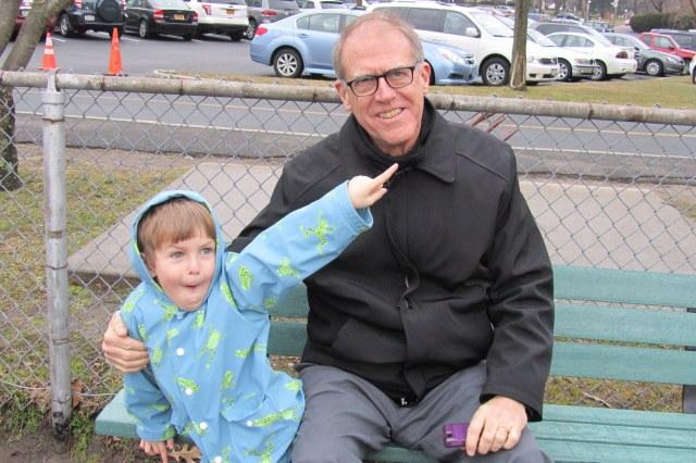 After school fun: Jamesy and Grandpa