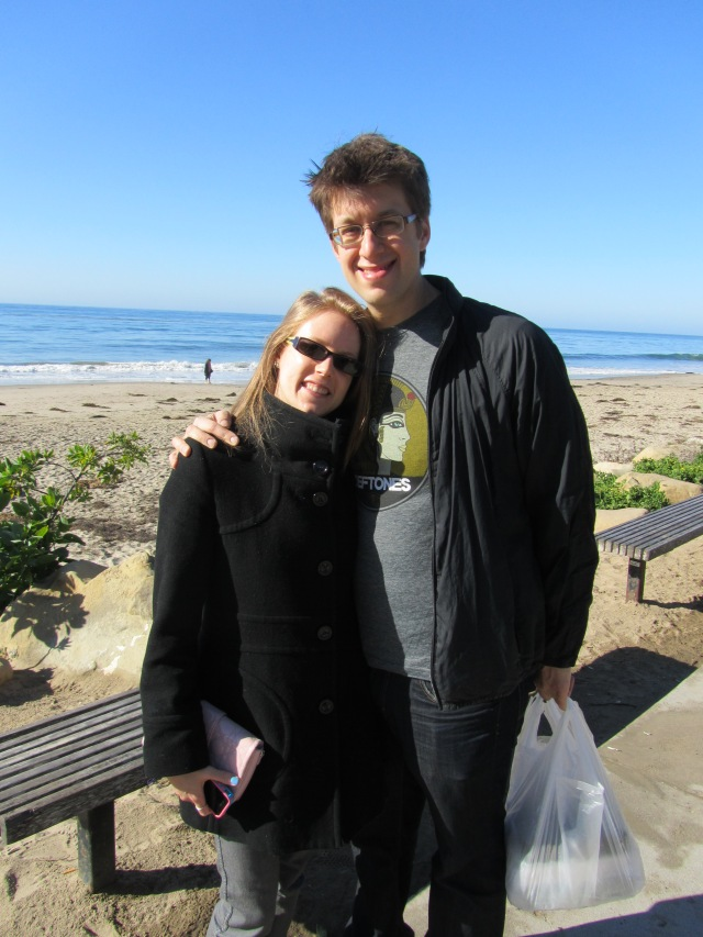 And before they left for San Francisco, we had breakfast at the beach