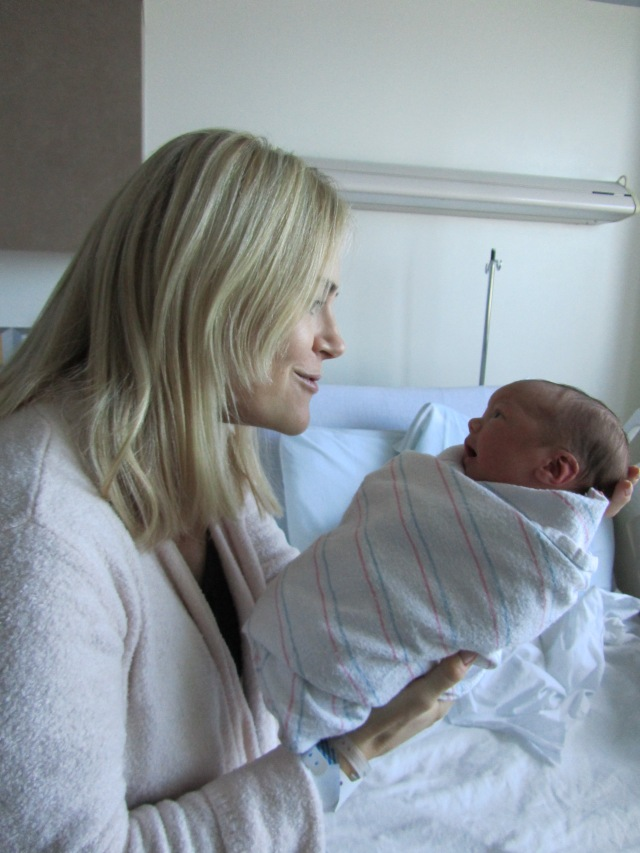 Tina and  two-day-old Caleigh