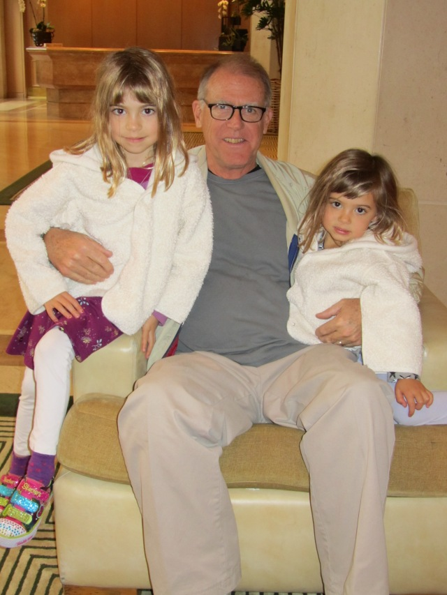 Grandpa with the big sisters