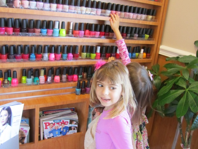 Big decision: picking out a color at the nail salon