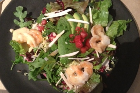 Always a good choice: the shrimp salad at Nougatine (Polloplayer photo)