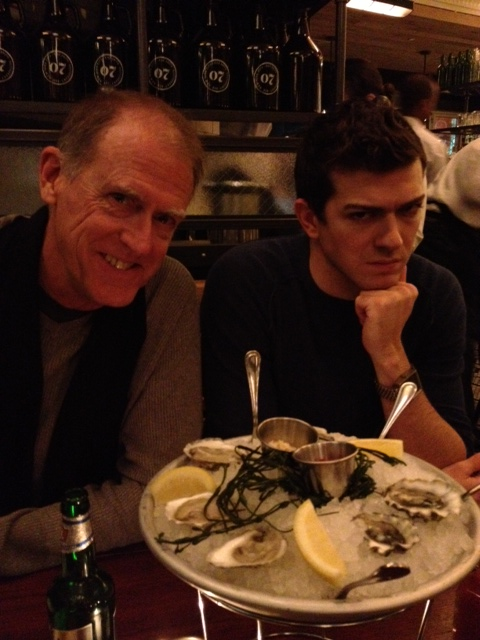 Daniel liked his meal but said a scowly no to the oysters.