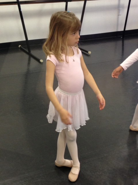 Her completely unbiased Grandpa proclaimed Evie the most accomplished  ballerina in her class