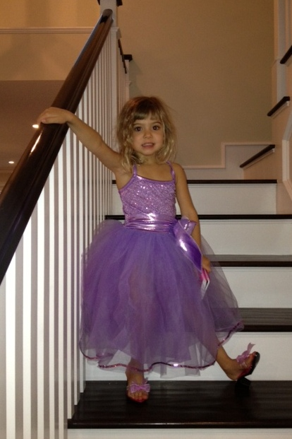 Princess Viv in her new dress-up outfit
