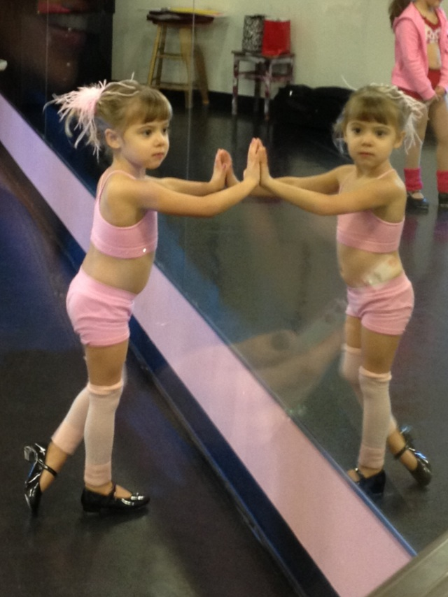 Viv at her tap dance class: sometimes it really does seem like there are two of her!