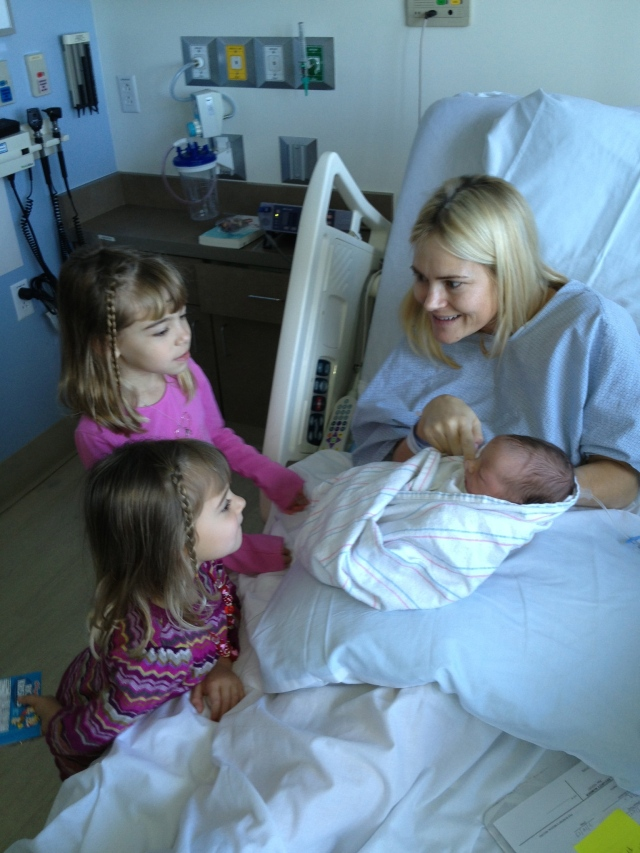 Evie and Viv meet their little sister