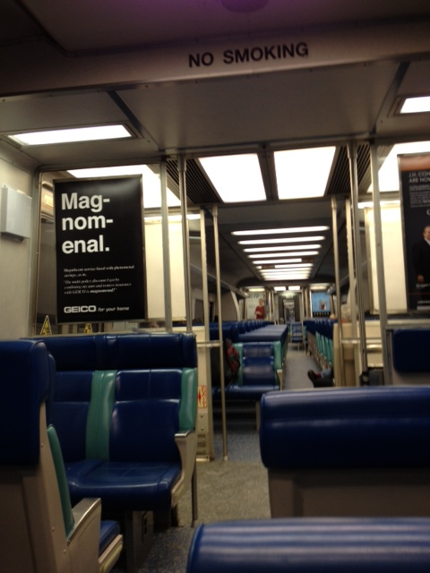 For the uninitiated, this is what the inside of the train looks like. (Polloplayer photo)