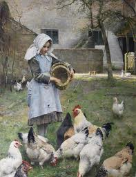 "Osborne's ""Feeding Chicken""s (image from auction publicity.com)"