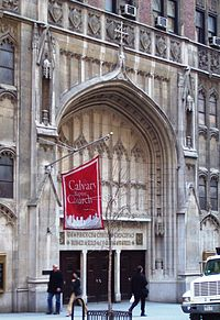 And all God's people said Amen: Calvary Baptist Church on 57th Street (wikipedia image)