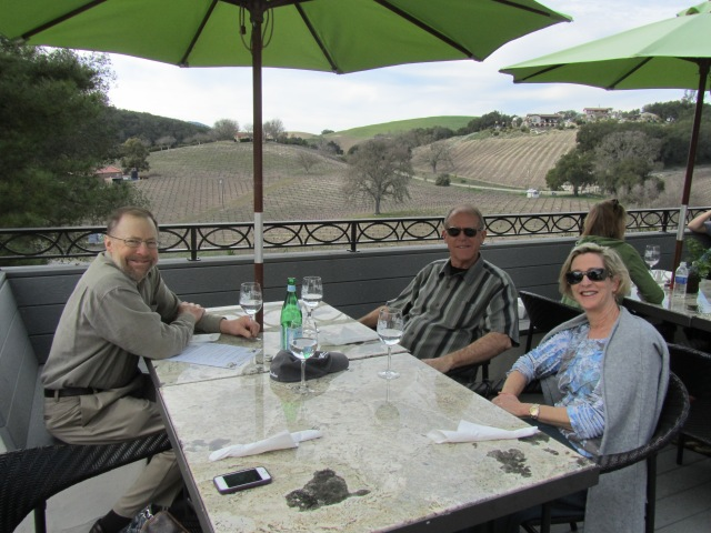 Lunch on the terrace at Heron Wines