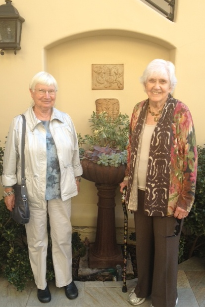 Barb and Phyllis were happy to stay behind at Hotel Cheval