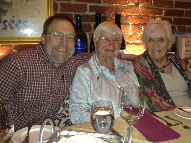 Kirk, Barb and Phyllis at Bistro Laurent