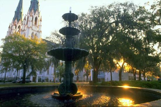 Savannah's Lafayette Square (image from tripadvisor.com)