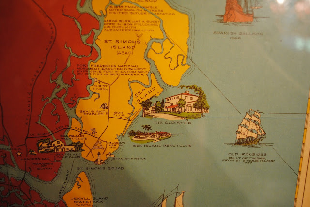 map of St. Simons Island and Sea Island (image from mattersofstyleblog.com)