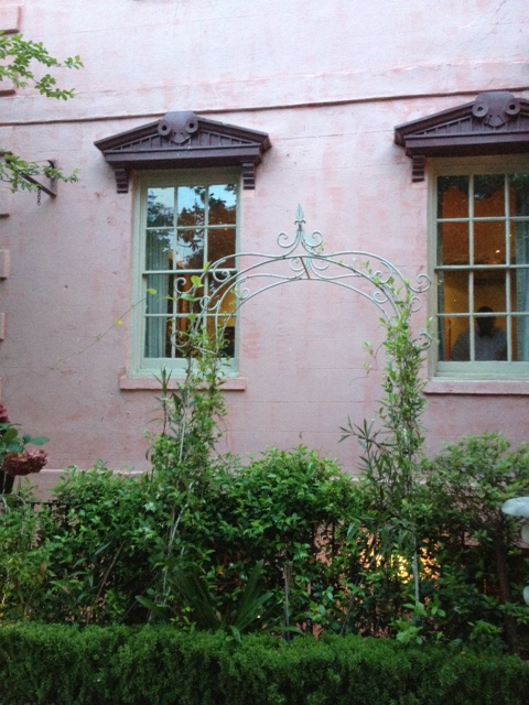 A side view of The Olde and very definitely Pink House.