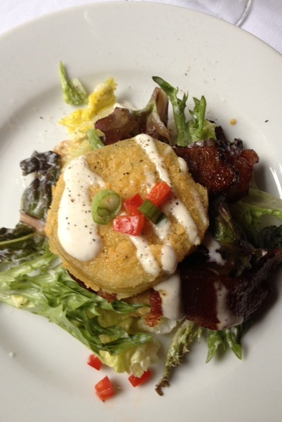 "Olde Pink House's Fried Green Tomato Salad has been featured on ""The Best Thing I Ever Ate"" television show."