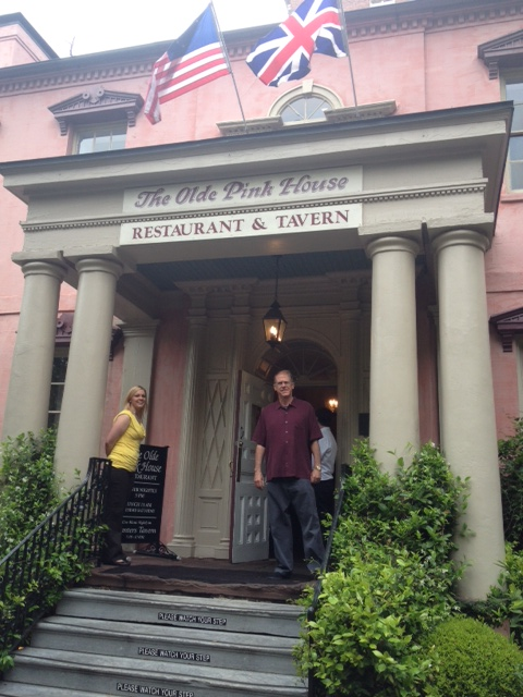The CE arrives at Savannah's Olde Pink House