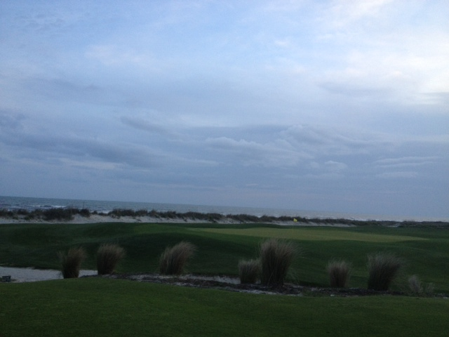 The Atlantic Room looks out on 18th hole of the Ocean Course