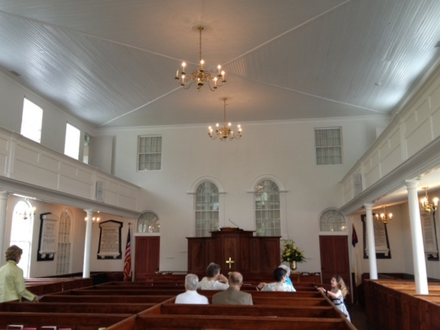 The church interior - it doesn't look that old, does it?