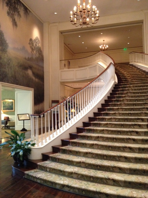 The grand staircase to The Ocean Room
