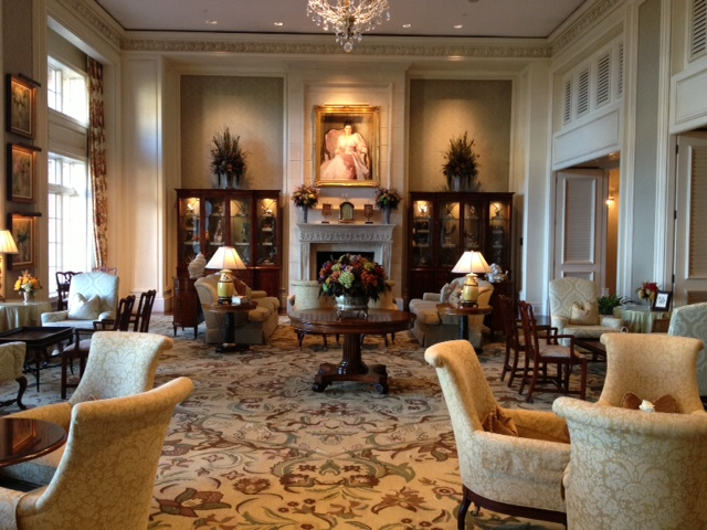 The formal lounge at The Sanctuary. Some similarities to The Cloister.