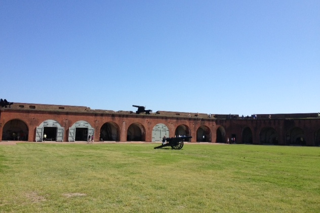 Lots of history at Ft. Pulaski. Built after the War of 1812, it was bombarded by the Union Army during the Civil War . It was a great primer for our subsequent visit to Ft. Sumter.