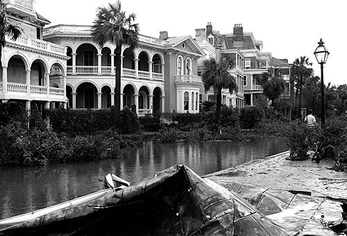 The Battery area was devastated by Hurricane Hugo (image from postandcourier.com)