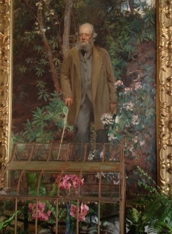 This portrait of Frederick Law Olmstead hangs inside Biltmore, opposite one of architect Richard Morris Hunt.