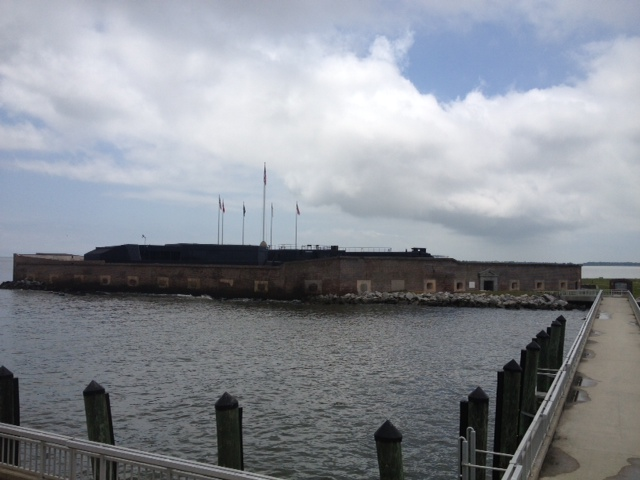 Ft. Sumter today as seen from our ferry.