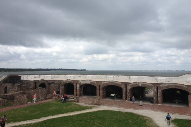 The Union army bombarded Fort Sumter throughout the war and finally re-took it in February, 1865