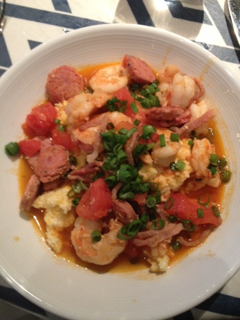 If you go to S.N.O.B. order the shrimp and grits.
