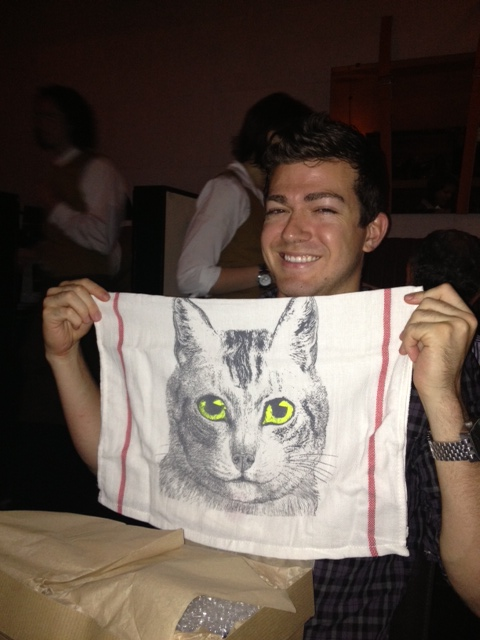 But the cat towel was a hit.