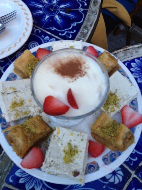Dessert at Beyoglu. Thank you, Nina!