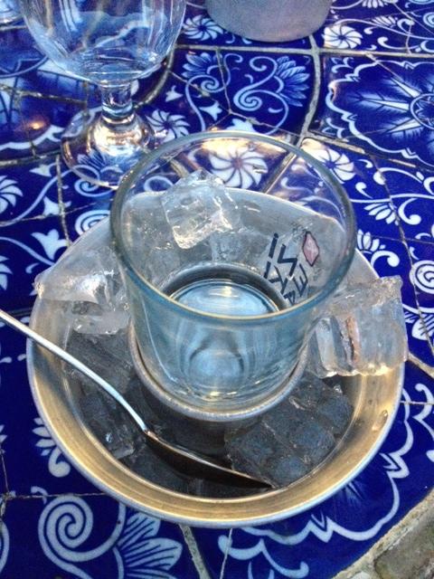 """Refreshing """"raki"""" to sip after dinner at Beyoglu"""