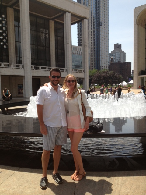Bobby and Angie at Lincoln Center